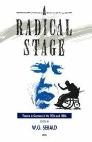 Cover of: The Radical Stage | W. G. Sebald