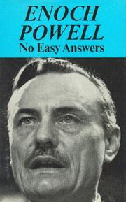 Cover of: No easy answers by J. Enoch Powell