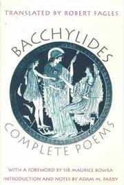 Cover of: Complete poems by Bacchylides.