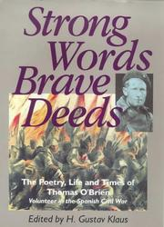 Cover of: Strong words, brave deeds by O'Brien, Thomas
