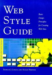 Cover of: Web style guide by Lynch, Patrick J.