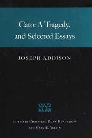 Cover of: Cato | Joseph Addison