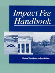 Cover of: Impact Fee Handbook | National Association of Home Builders of the United States.