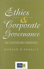 Cover of: Ethics and corporate governance | Ronald D. Francis