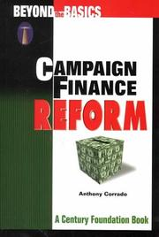 Cover of: Campaign Finance Reform by Anthony Corrado