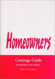Cover of: Homeowners Coverage Guide | Diane W. Richardson