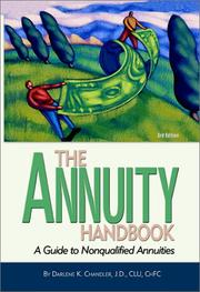 Cover of: The Annuity Handbook by Darlene K. Chandler
