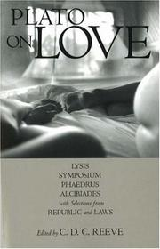 Cover of: Plato on love by Plato
