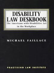 Cover of: Disability law deskbook | Michael Faillace