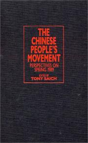 Cover of: The Chinese People's Movement by Tony Saich