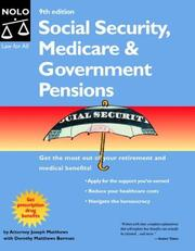 Cover of: Social security, medicare & government pensions by J. L. Matthews
