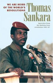 Cover of: We are heirs of the world's revolutions | Thomas Sankara