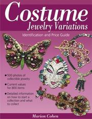 Cover of: Costume Jewelry Variations | Marion Cohen