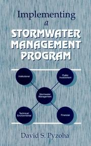 Cover of: Implementing a stormwater management program | David S. Pyzoha