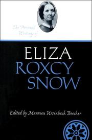Cover of: The personal writings of Eliza Roxcy Snow by Eliza R. Snow