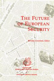 Cover of: The Future of European Security | Beverly Crawford