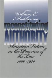 Cover of: Reconstituting Authority | William E. Moddelmog