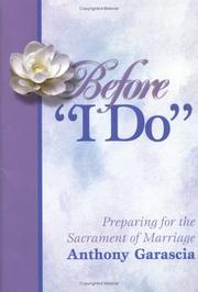 "Cover of: Before ""I Do"" by Anthony Garascia"