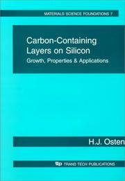 Cover of: Carbon-containing layers on silicon | H. J. Osten