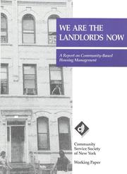Cover of: We are the landlords now | Doug Turetsky