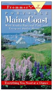 Cover of: Frommer's Portable Maine Coast (1st Ed.) | Wayne Curtis