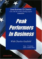 Cover of: Peak Performers in Business by Charles A. Garfield