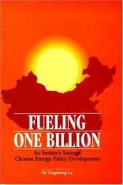 Cover of: Fueling One Billion by Yingzhong Lu