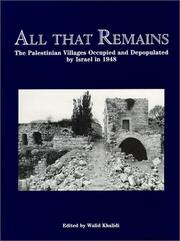 Cover of: All That Remains | Walid Khalidi