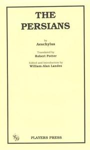 Cover of: Persae | Aeschylus