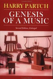 Cover of: Genesis of a music | Harry Partch
