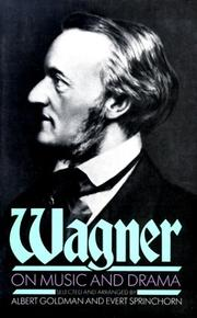 Cover of: Literary works by Richard Wagner