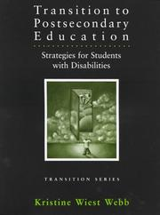 Cover of: Transition to Postsecondary Education | Kristine Wiest Webb