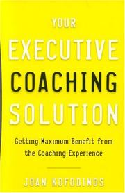 Cover of: Your Executive Coaching Solution | Joan Kofodimos