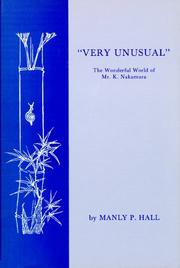 "Cover of: ""Very unusual"" by Manly Palmer Hall"