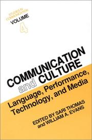 Cover of: Communication and culture | International Conference on Culture and Communication (6th 1986 Temple University)
