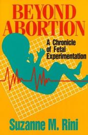 Cover of: Beyond Abortion by Suzanne M. Rini