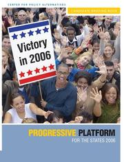 Cover of: Progressive Agenda for the States 2006 | Center for Policy Alternatives
