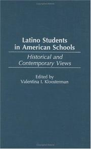 Cover of: Latino Students in American Schools by Valentina Kloosterman