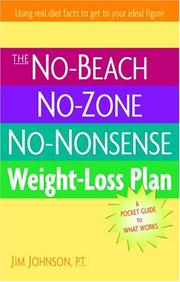 Cover of: The No-Beach, No-Zone, No-Nonsense Weight-Loss Plan by Jim Johnson