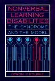 Cover of: Nonverbal learning disabilities | Byron P. Rourke