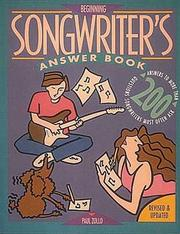 Cover of: Beginning songwriter's answer book | Paul Zollo