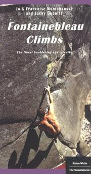 Cover of: Fontainebleau climbs | Jo Montchaussé