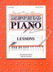 Cover of: David Carr Glover Method for Piano / Lessons / Level | David Carr Glover