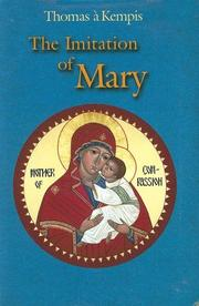 Cover of: The Imitation of Mary | Thomas à Kempis