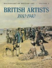Cover of: Dictionary of British Art Vol 5, 1880-1940 (Dictionary of British Art) | J. Johnson