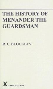 Cover of: History of Menander the Guardsman | R. C. Blockley