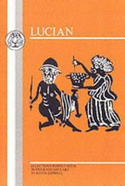 Cover of: Lucian | Lucian of Samosata, K. Sidwell