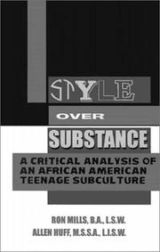 Cover of: Style over substance | Ron Mills