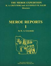 Cover of: The Meroe expedition by Krzysztof A. Grzymski