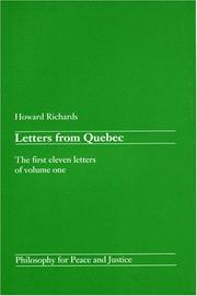 Cover of: Letters from Quebec | Howard Richards
